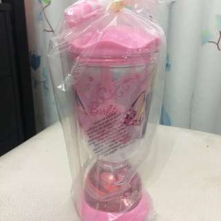 Barbie's cup with straw for kids