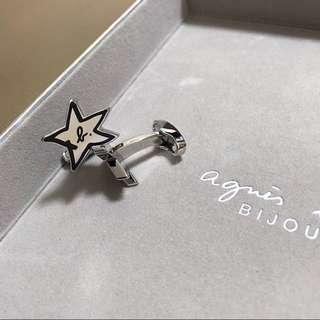 (NEW) Agnes b STAR Cufflinks 星形䄂口鈕