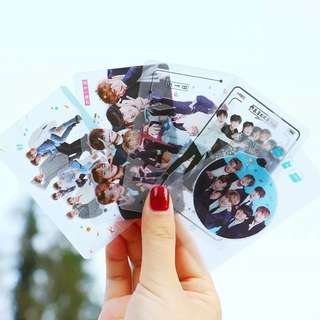 BTS TRANSPARENT CARDS