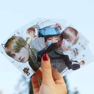 BTS TRANSPARENT CARDS