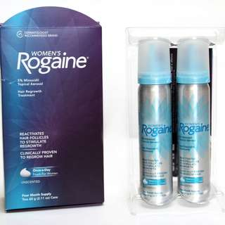 ROGAINE WOMEN FOAM 5% minoxidil four month supply