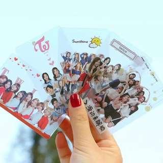 TWICE TRANSPARENT CARDS