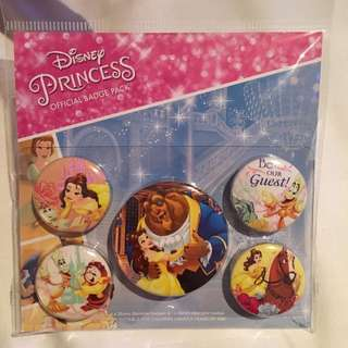 Disney Beauty & the Beast official badge pack