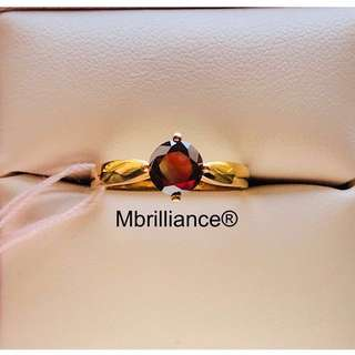 Natural diamond solitaire engagement ring 916 gold
