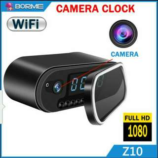 Spy clock camera with WiFi networks connection to mobile phone Apps.