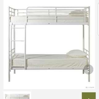 白色雙層鋼床