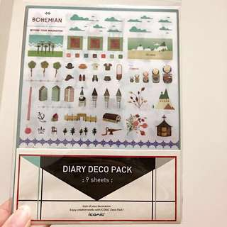 Korean iconic diary deco sticker pack