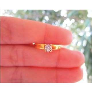 .23 Carat Diamond Yellow Gold Engagement ring 14k