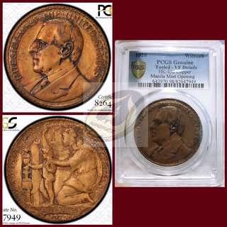 1920 Wilson Dollar (Bronze) - Manila Mint Opening - PCGS VF Details