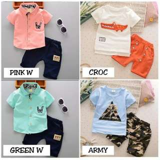 2PCS Boy Cloth Set