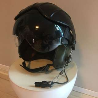 Preloved Authentic Pilot Helmet with Microphone