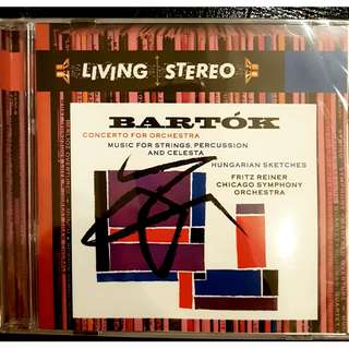 US Print DSD remastered SEALED NEW Bartok Concerto for Orchestra Fritz Reiner CSO