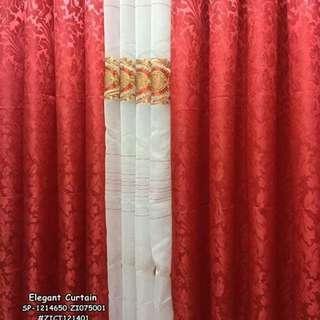 "Elegant curtain ⚛️2 brocade 1 laced size : 60*85"" ⚛️1 kilo"
