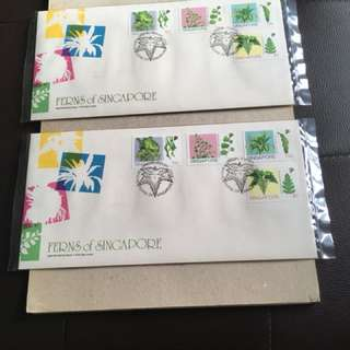 FDC 14.11.90. Ferns of Singapore