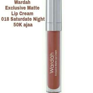 Wardah exclusive matte lip cream 018 saturdate night