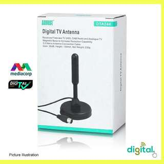 Digital TV Antenna DVB-T2 with Dual Signal Booster Amplifier