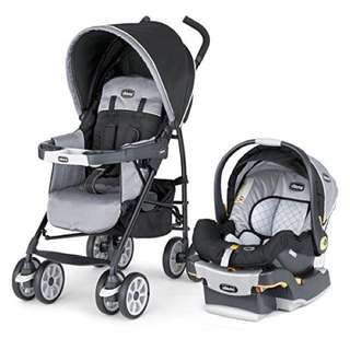 Chicco Stroller with Car Seat (Preloved)