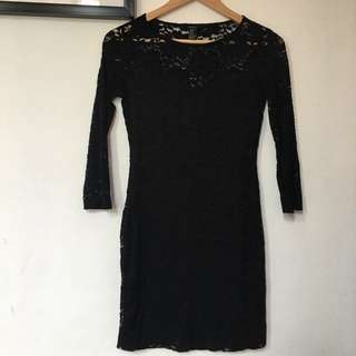 Forever 21 Black Lace Dress (M)