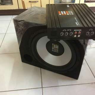 Subwoofer with 4channel power amp