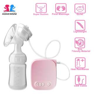 MOMO HOUSE Single Electric Breast Pump - Super Massage&Suction - Send from Msia