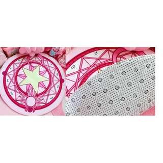 (割價)粉紅圓型地毯