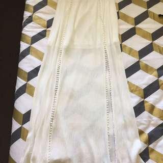 White maxi skirt M