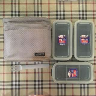 Lock & Lock lunch box (missing spoon)