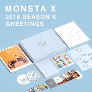 [PREORDER] MONSTA X 2018 Season's Greetings