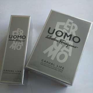 Salvatore Ferragamo Uomo EDT 100ml (with free gift)