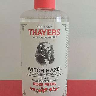 Thayer's witch hazel with rose petal alcohol free