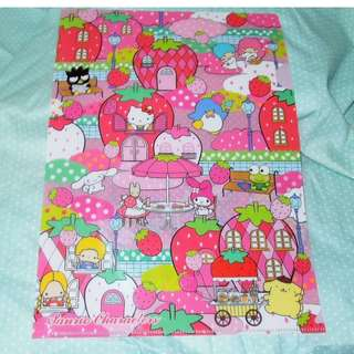 Sanrio BadTz PomPom purin Keroppi My Melody 2014' Folder Clear Holder file max 版 A4 file