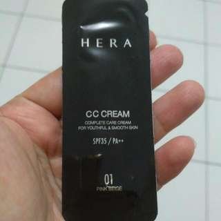 Hera CC Cream Sample Sachet 1 ml Shade Pink Beige