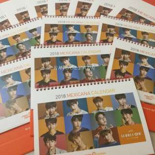 Wanna One Official Mexicana Calendar and Sticker set