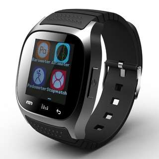 M26 Bluetooth V4.0 Smartwatch Wearable Media Control Hands-Free Pedometer Anti-lost for Android/iOS (Black/Blue/White)