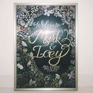 A2 Wedding Poster (Fully Hand-painted)
