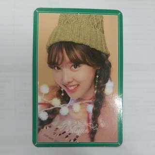 Twice Merry & Happy 娜漣小卡1張