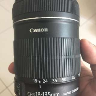 Canon EFS 18-135mm lenses