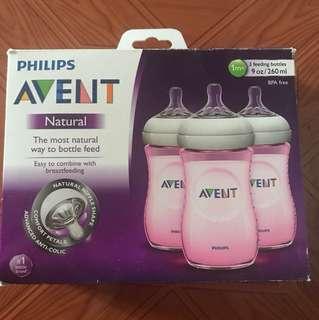 Brandnew Avent bottles natural