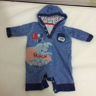 Baby playsuit with hoodie 0-3months