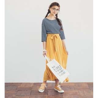 PAZZO荷葉造型綁帶長裙