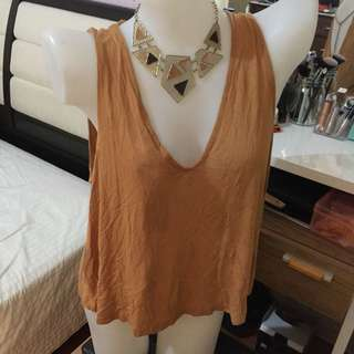 Forever21 sleeveless knit top large