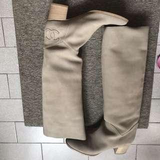 Chanel beige colour boots size 39.5