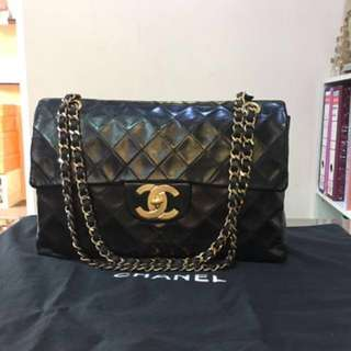 Authentic Chanel Vintage Classic Maxi Jumbo
