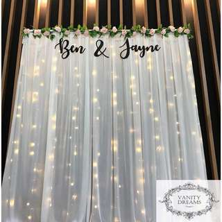 Wedding Fairylights Backdrop