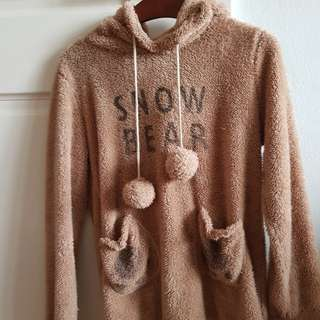Cute fluffy bear jumper/sweater