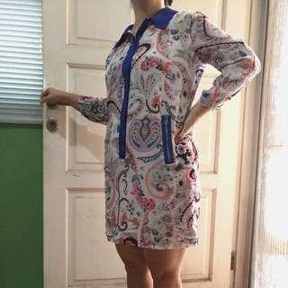 Colar Shirt Ornament Dress
