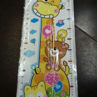 兒童 小童 量度 身高 紙 長頸鹿公仔 包平郵