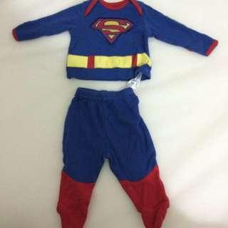 Superman suit baby 0-3 months
