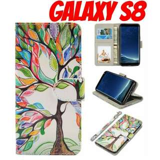Galaxy S8 Colorful Tree Wallet Case
