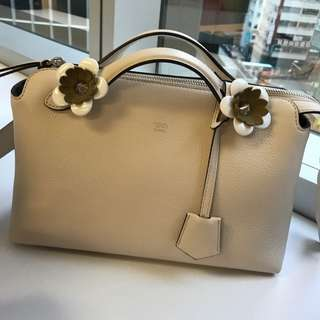 Fendi By The Way Flower Embellished Tail Handbag (Small)